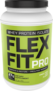 Flex Fit Pro Angel Food Cake Flavor Whey Powder Package